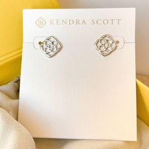 New Kendra Scott Logo Dira Silver Stud